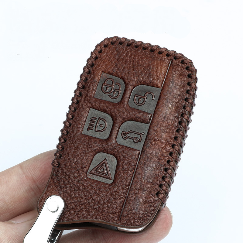 Full Cover Genuine Leather Car Key Case For Land Rover RANGE ROVER SPORT Freelander 2 DISCOVERY 4 Evoque for Jaguar XE XJ XJL XF