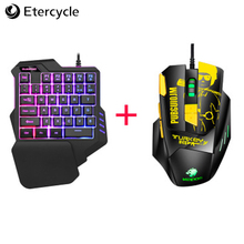 One-handed keyboard colorful RGB macro recording non-mechanical laptop gaming mobile game
