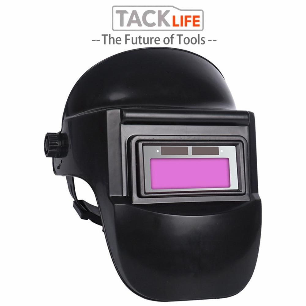 TACKLIFE Skull Solar Auto Darkening Adjustable Range 9-13 MIG MMA Electric Welding Mask Helmet Welding Lens For Welding Machine