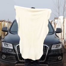 60*90 Natural Shammy Chamois Leather Car Cleaning Towel Absorbent Car Wash Cloth Deer Towel Suede Sheepskin Drying Washing Cloth
