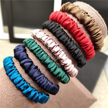 100% Pure Silk Hair Scrunchie Women Small Hair Bands Cute Scrunchie Pure Silk Sold by one pack of 3pcs