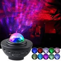 Kleurrijke Sterrenhemel Galaxy Projector Nachtlampje Kind Blueteeth Usb Muziekspeler Ster Nachtlampje Romantische Projectielamp Geschenken