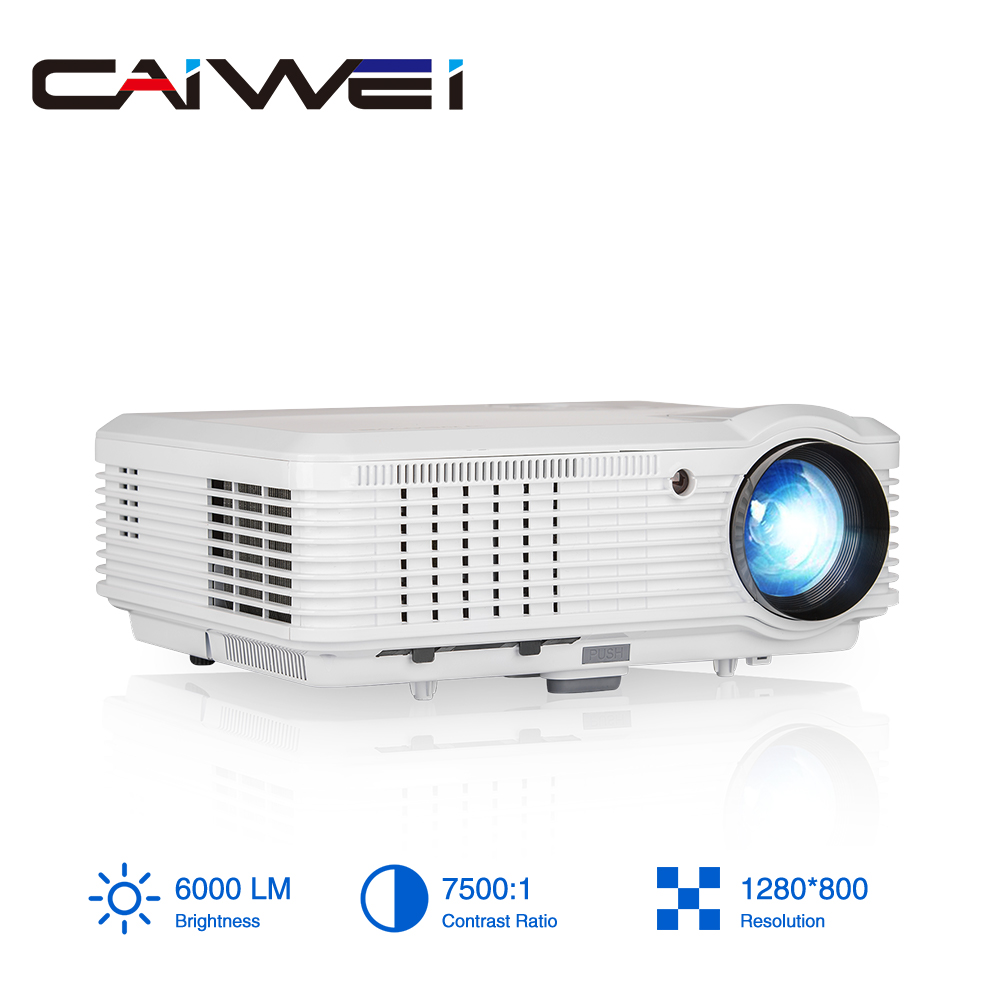 A7 LED Projector Home Theatre proyector Full HD video Smartphone Digital TV Movie Projection Beamer with projection bracket LCD Projectors     - title=