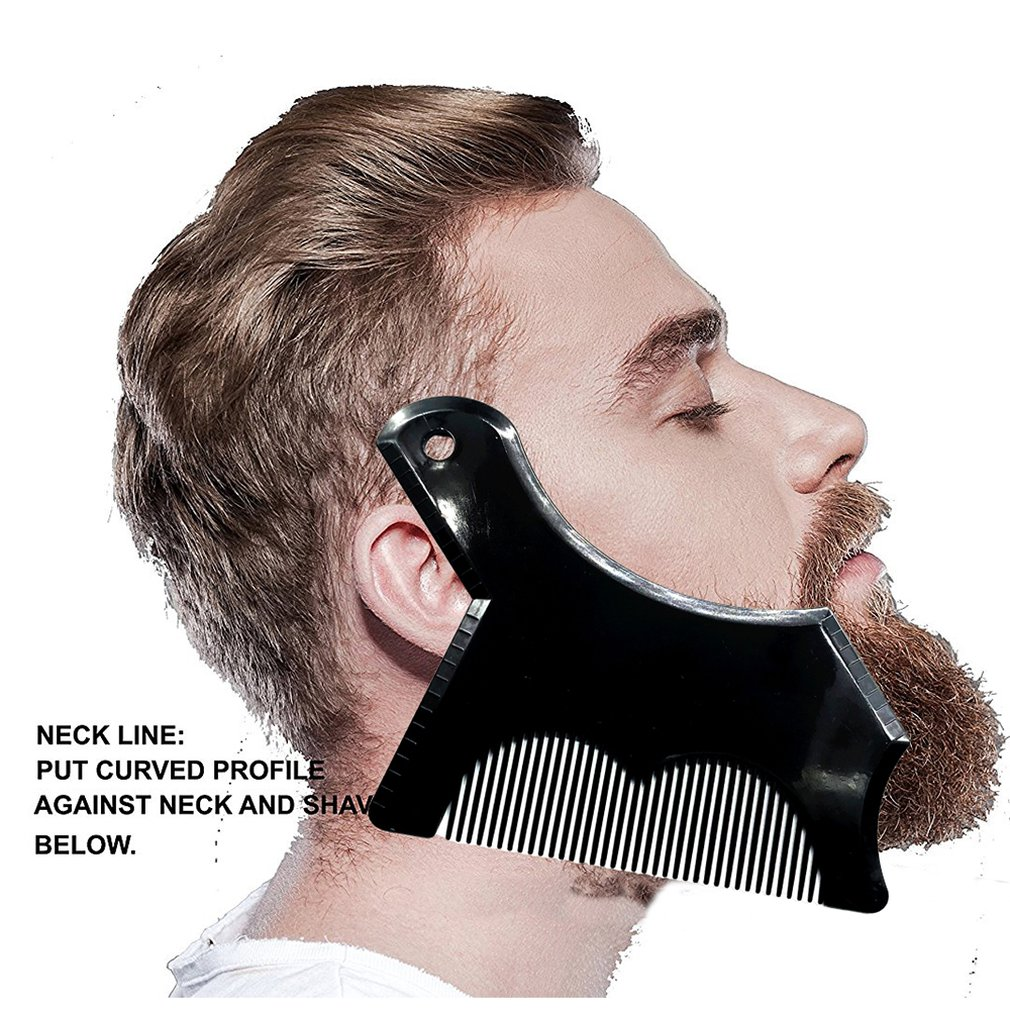 Men Beard Shaping Styling Template Comb Men'Smoustache Pattern Beards Combs Beauty Tool For Hair Beard Trim Templates
