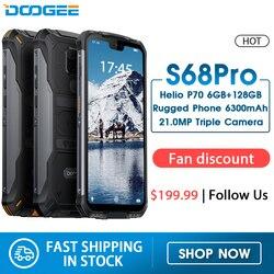 Перейти на Алиэкспресс и купить doogee s68 pro ip68 waterproof rugged phone helio p70 octa core 6gb 128gb wireless charge nfc 6300mah 12v2a charge 5.9 inch fhd+