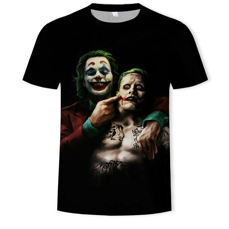 2019 Summer Hot-sale Clown 3D Printed T Shirt Men Joker Face Casual Male Tshirt 3d Clown Short Sleeve Funny T Shirts Tops & Tees