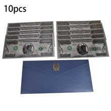 10pcs One Million Dollar Banknote USD 1000000 Silver Foil Collection Cards