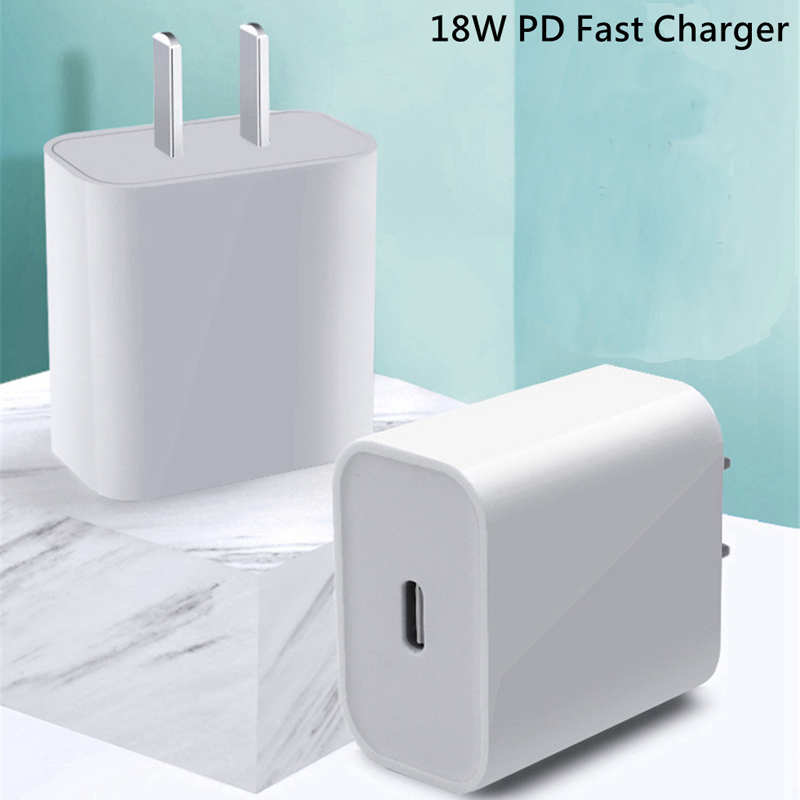 18W PD USB Type C Quick Charger Adapter For iPhone 11 Pro XR X Xs Max 8 Fast Charging EU US UK AU Plug Travel PD charger port(China)