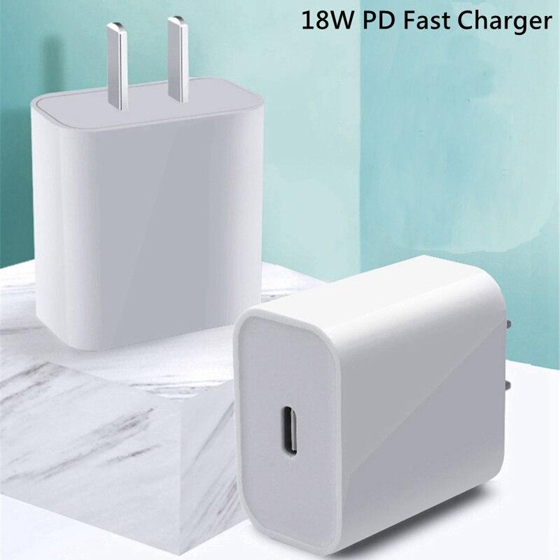 Сетевое зарядное устройство с USB Type-C, 18 Вт, для iPhone 11 Pro/XR/X/Xs Max/12-0