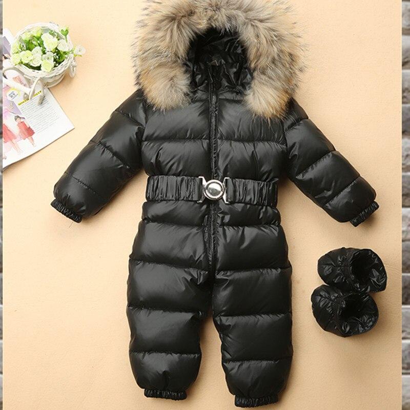-30 russische Winter Schneeanzug 90% Ente Unten Junge Baby Jacke Outdoor Infant Kleidung Mädchen Klettern Für Jungen Kinder Overall 1 ~ 4y
