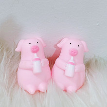 Cute funny little pig venting children's toy pig pig pinch music bottle pig creative trick gift baby pig pig walks