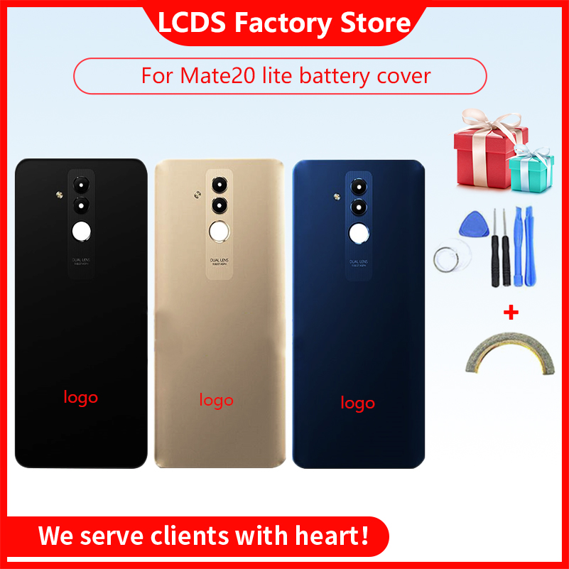 """Back Glass Cover For 6.3"""" Huawei Mate 20 Lite Battery Cover Door Rear Housing Panel Case For Huawei Mate 20 Lite Battery Cover"""