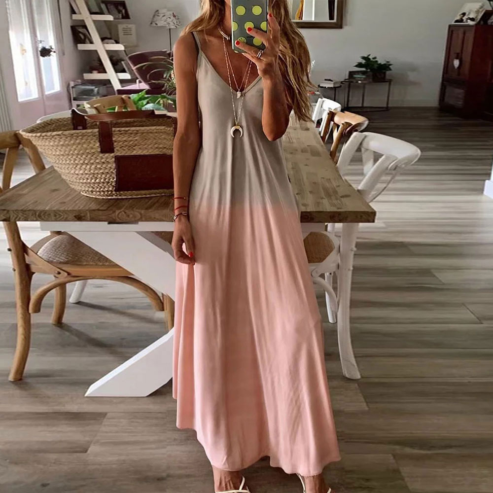 Casual Vintage Sundress <font><b>Women</b></font> Summer <font><b>Dress</b></font> <font><b>2019</b></font> Boho <font><b>Sexy</b></font> <font><b>Dress</b></font> Midi Button <font><b>Backless</b></font> Polka Dot Striped Floral Beach <font><b>Dress</b></font> Female image