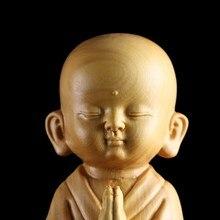 Sculpture de jeune moine Zen Sami moderne Feng Shui, décoration de la maison, sculpture artisanale