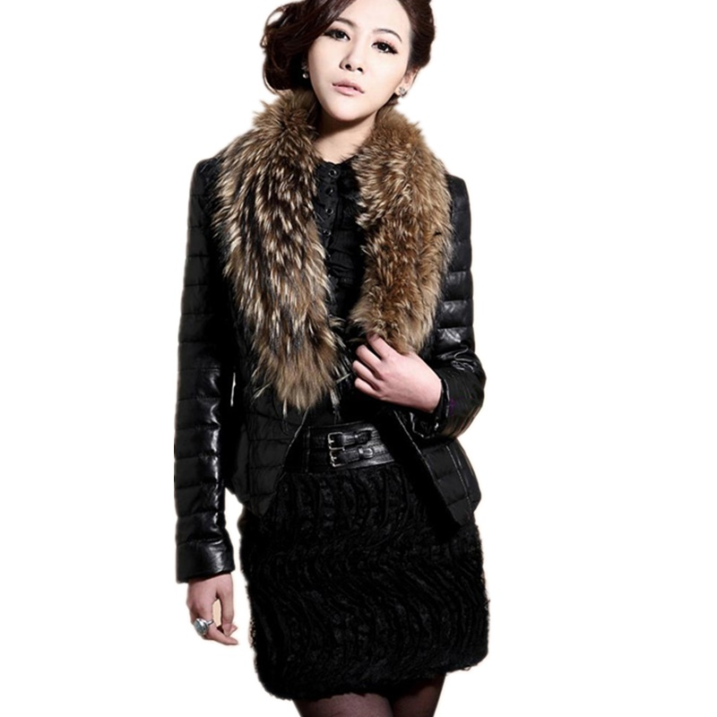 Women Large Size Casual Pu   Leather   Overcoats Section Faux fox fur Collar   Leather   Jackets Female   Leather   Coats Jaqueta De Couro