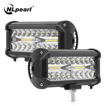 Nlpearl 4'' 7'' 72W 60W Led Light Bar/Work Light 36W Led Bar Offroad Trucks SUV 4WD 4x4 Led Work Light Tractors SUV Boat 12V 24V