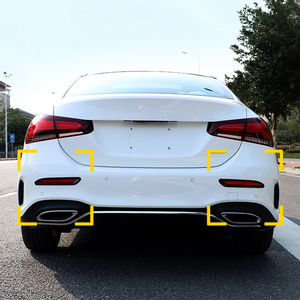 Fit for Mercedes Benz A Class V177 Sedan 2019 2020 Car Accessories ABS Car Rear Fog Light Lamp Decor Cover Trim 2pcs