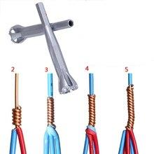 Evrensel elektrik tel Stripper hızlı ayarlayıcı bükülmüş bağlantı teli elektrikçi yardımcı sıkma aracı kablo striptizci