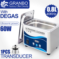 Digital Ultrasonic cleaner 60W Sonicator bath 40Khz degas for gold sliver Jewelry glasses jade necklace oxides rust oil washer