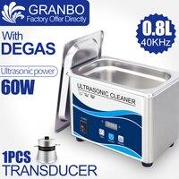 Limpiador ultrasónico Digital 60W sonicador baño 40Khz degas para joyería de plata de oro gafas jade collar óxidos aceite de óxido lavadora