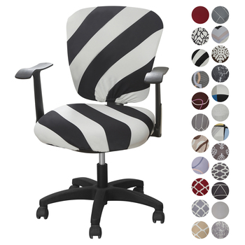 Elastic Office Lift Computer Chair Cover Modern Anti-dirty Boss Rotating Chair Seat Case Removable Protect Case image