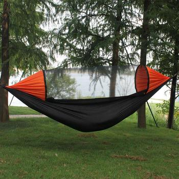 Army Green Portable Camping Hammock Outdoor Furniture Lightweight Hammock With Mosquito Net 210t Nylon Hammocks Swing Waterproof hammock outdoor hammocks camping garden furniture hammock