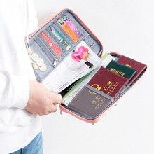 Wallet Organizer Passport-Holder-Holder Credit-Card-Accessories Document Multi-Function