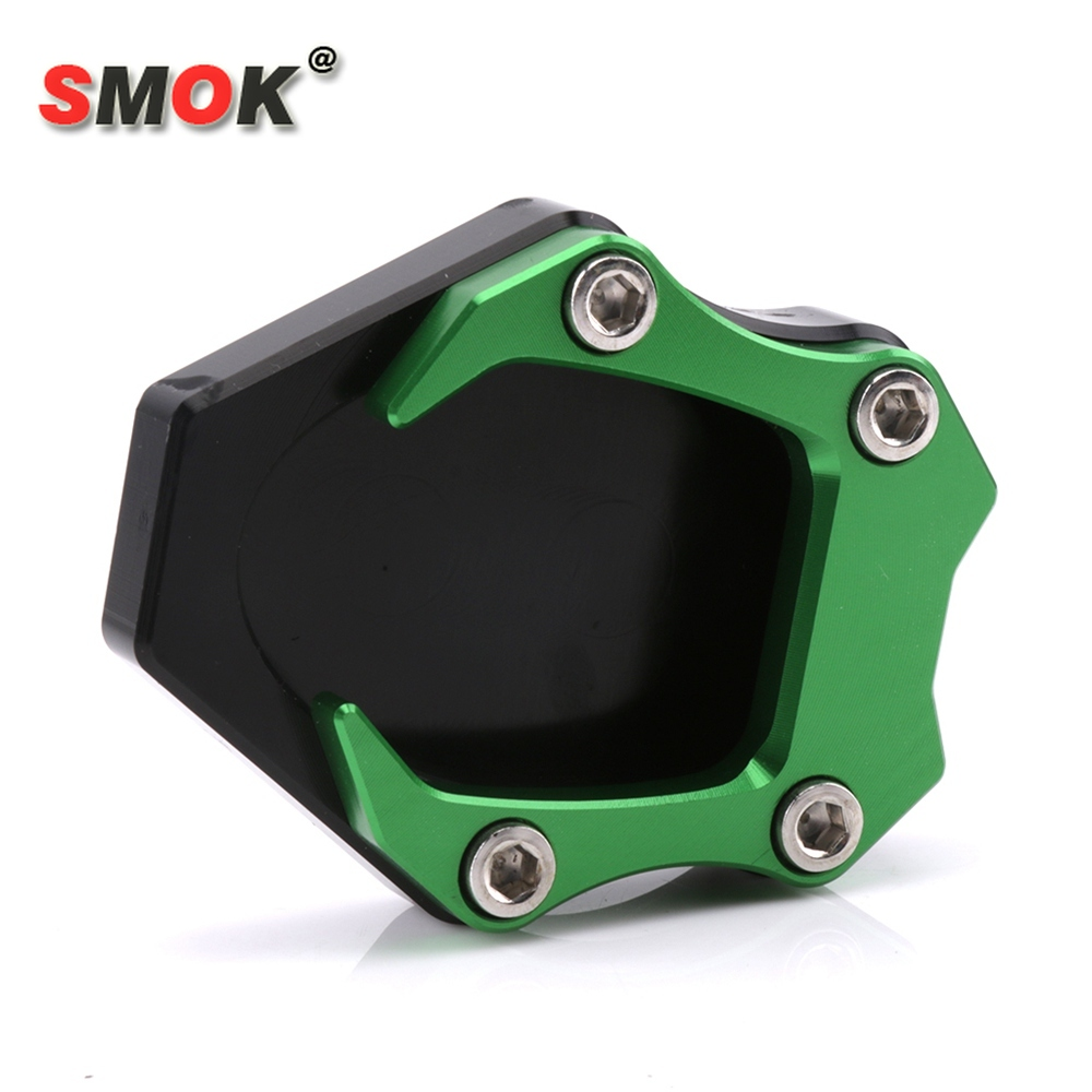 SMOK For Kawasaki <font><b>Ninja</b></font> 250 2018 <font><b>Ninja</b></font> <font><b>400</b></font> 2018 Motorcycle <font><b>Kickstand</b></font> Foot Side Stand Enlarger Extension Pad Support Plate image