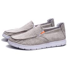 Мужская повседневная обувь дышащая холст для весны/лета вождения