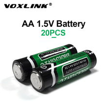 VOXLINK 20PCS 1.5V AA Battery LR6 AM3 E91 MN1500 Carbon Dry Battery Primary Battery For MP3 camera flash razor electric toy sale 4 10pcs 1 5v lithium aa battery 3000mah lr6 am3 2a lifes2 cell dry primary battery for camera and toys electric shaver