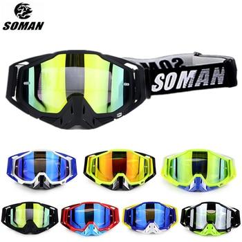 SOMAN Motocross lunettes anti-poussière moto   Lunettes de moto Mx, coupe-vent descente Gafas Lunette Brillen, pour moto 1