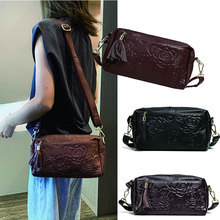 Genuine Leather Bag Women Messenger Bags Luxury Handbags Women Bags Designer Small Shoulder Bag for Women Tassels Crossbody Bag недорого