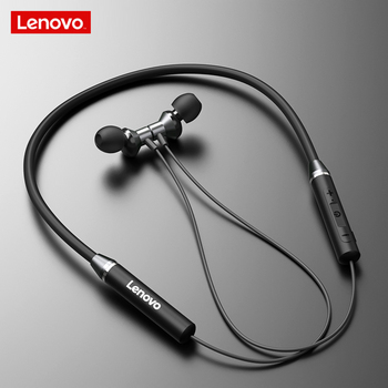 Original Lenovo HE05 Bluetooth 5.0 Neckband Earphone Stereo Wireless Bluetooth Magnetic Headphones IPX5 Sports Running Headset magnetic switch wireless bluetooth stereo earphone neckband ecouteur auriculares for sony xperia xa xa1 ultra dual