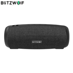 BlitzWolf BW-WA1 12W Wireless bluetooth 5.0 Speaker Dual Passive Diaphragm TWS Stereo TF Card U Disk Video Speaker with Mic