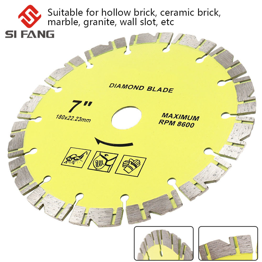 105mm/115mm/125mm/180mm/230mm Diamond Cutting Disc Diamond Hot-pressed Dry Wave Plate Saw Blades For Marble Granite Hard Stone