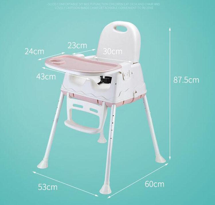 Kids High Chair Feeding Chair Baby Chair Booster Seat Children Adjustable Folding Chairs Kids Highchair Seat Baby Eating Seats