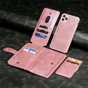 Image 5 - Luxury Leather Flip Card Case For iPhone 12 Mini 11 Pro Max X XS XR 6 6s 7 8 Plus Removable Wallet Car Magnetic Phone Cover Bags