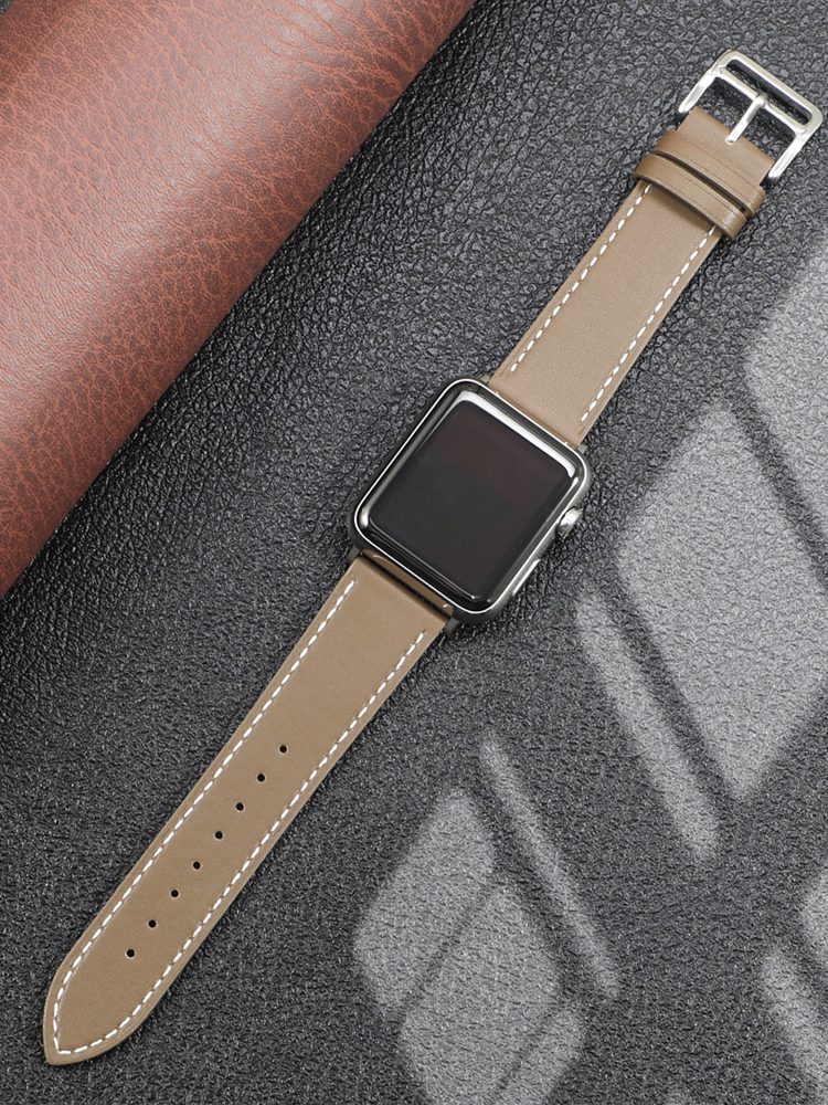 Leather strap for Apple watch band 44mm 40mm iWatch band 38mm 42mm Single tour watchband