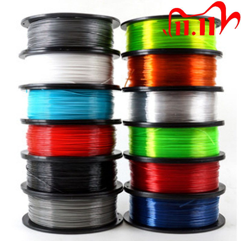 WOOD-PETG-TPU=FLEX-NYLON-TABS filament plastic YOUSU for 3d printer ANET ENDER- 1kg 340m-diameter 1.