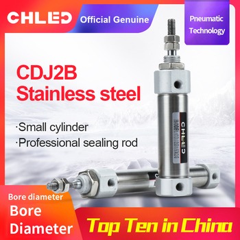 CDJ2B Type Mini Pneumatic Air Cylinde Stainless steelr Pen type cylinder 10/12/16mm Bore 10/15/20/25/30/35/40/50/100mm Stroke smc type air cylinder cqmb cdqmb bore 25mm compact rod guide pneumatic cylinder components stroke 5 10 15 20 25 30 35 40 45 50m