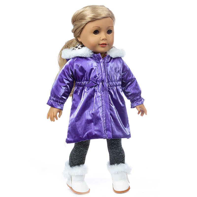 18 Polegada geração americana menina roupas de boneca inverno jaqueta esqui bebê recém-nascido boneca roupas casaco calças