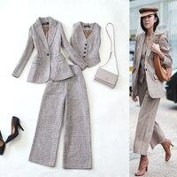 Women's Business Suit Office Suits Pants Sets Trouser Suits for Women Female Jacket Pantsuit for Women Clothes three piece set
