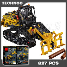 827pcs 2-in-1 Technic Multifunctional Tracked Loader Vehicle Dumper 11300 Model Building Blocks Gifts Toy Compatible With Lago(China)