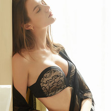 Sexy Lace Invisible Bras For Women Strapless Bra Push Up Backless Lingerie 1/2Cup Bralette Seamless Brassiere Female Underwear