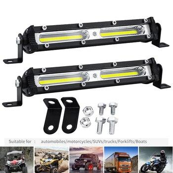 цена на Car LED Work Light 12V 24V LED Spotlight Work Light Bar 6500K Strip light for car Auto Truck Lorry Trailer SUV Spot Fog Lamp