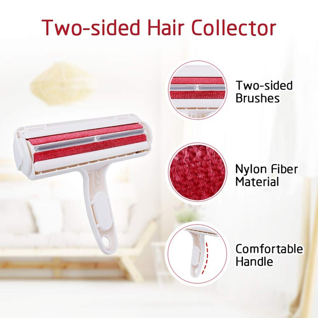 2 Way Pet Hair Remover Roller For Cats And Dogs  3