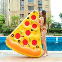 170cm Gonflable Pizza natation anneau piscine flotteur Gonflable matelas de natation enfants flotteur lit Gonflable piscine partie jouets eau boia