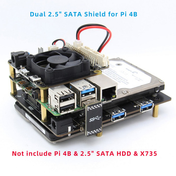 "Raspberry Pi 4B X829 Dual 2.5"" SATA HDD/SSD Storage Expansion Board With USB 3.1 Connector For Raspberry Pi 4 Model B"