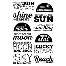 my sun moon Transparent Clear Silicone Stamp/Seal for DIY scrapbooking/photo album Decorative clear stamp