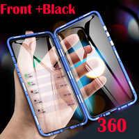 Étui en verre d'adsorption magnétique Double face pour mi Xiao mi 9 CC9E 9SE 8 CC9 Max 3 mi x 2S rouge mi Note 8 7 K20 Pro housse de téléphone
